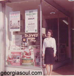 Laurie Mendel at the Broadway location ca. 1965, courtesy Laurie Mendel