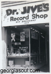 Dr. Jive's Record Shop on Broadway, his 2nd location ca. 1962, courtesy of Laurie Mendel