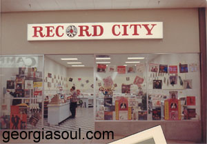 Record City at Columbus Square, ca. 1968, courtesy Laurie Mendel
